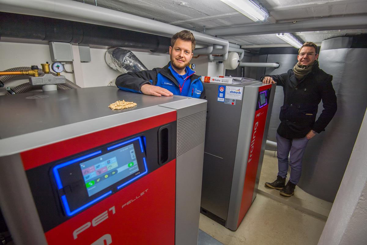 Pellet Kaskade 50 kW für die Ev.-luth. Kirchgemeinde Lößnitz-Affalter