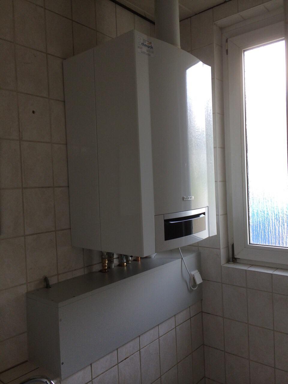 Gasbrennwerttherme mit integriertem 50 Liter Trinkwasserspeicher