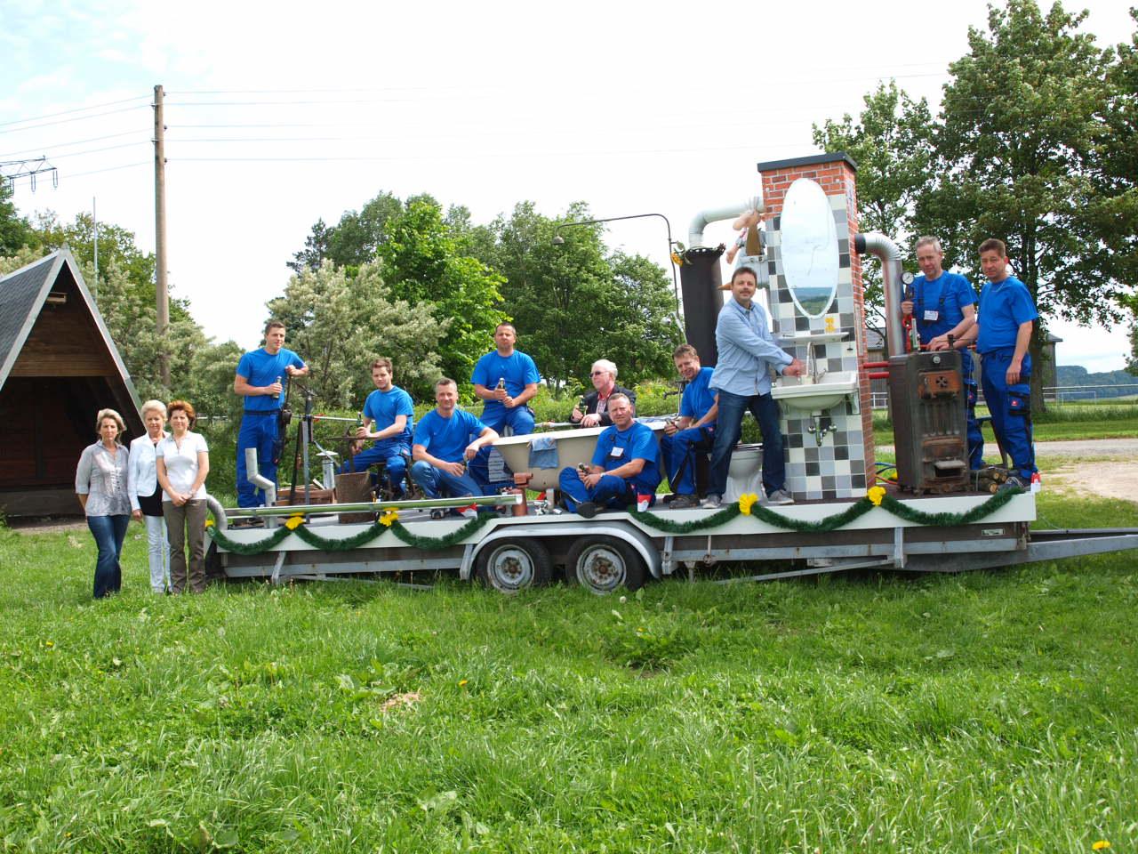 Umzugsanhänger zur 775 Jahr Feier Lößnitz 2014 (Salzmarkt)