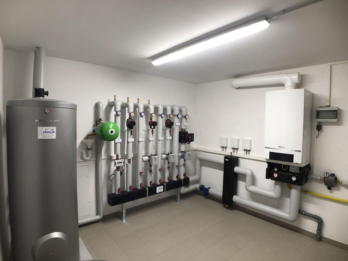 Gasbrennwertgerät im Mehrfamilienhaus 100 kW