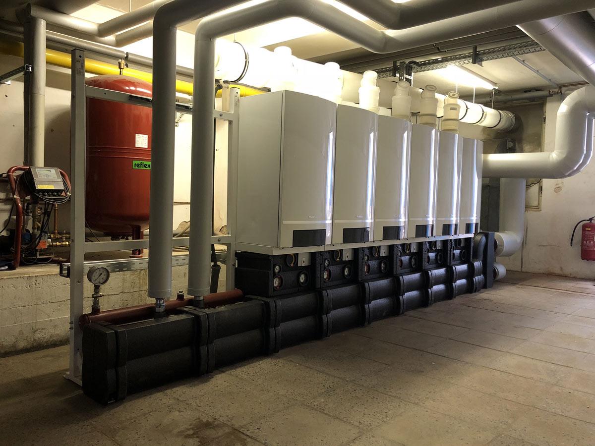 Gasbrennwertkaskade 600 kW