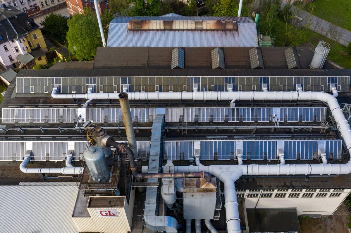 Luftverteilsystem Gießerei Lößnitz