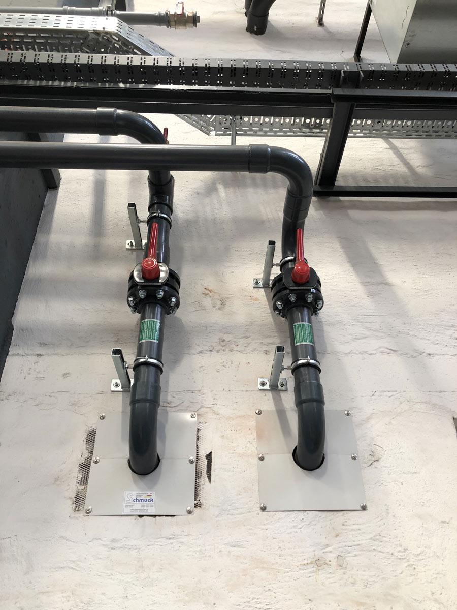 PVC Trassen zur Maschinenkühlung