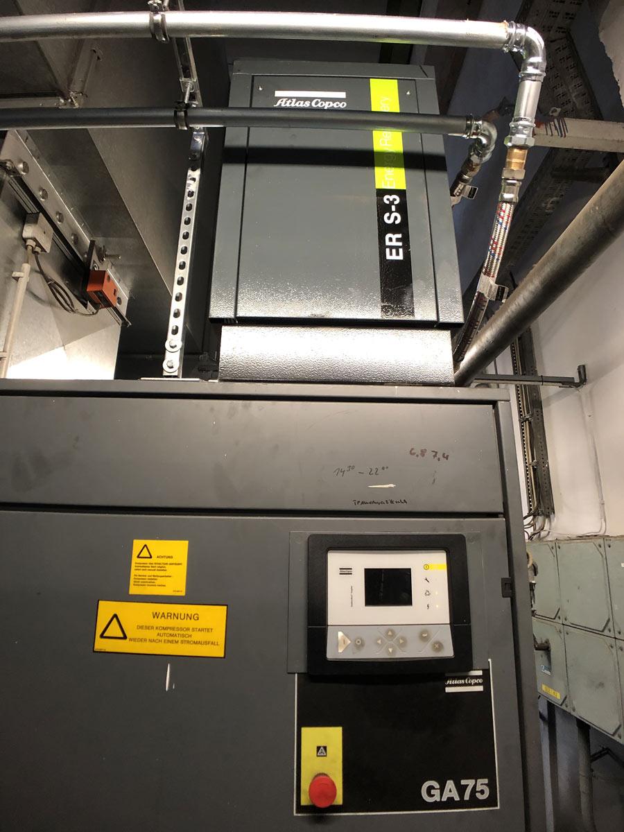 Wärmerückgewinnung über Druckluftaggregat