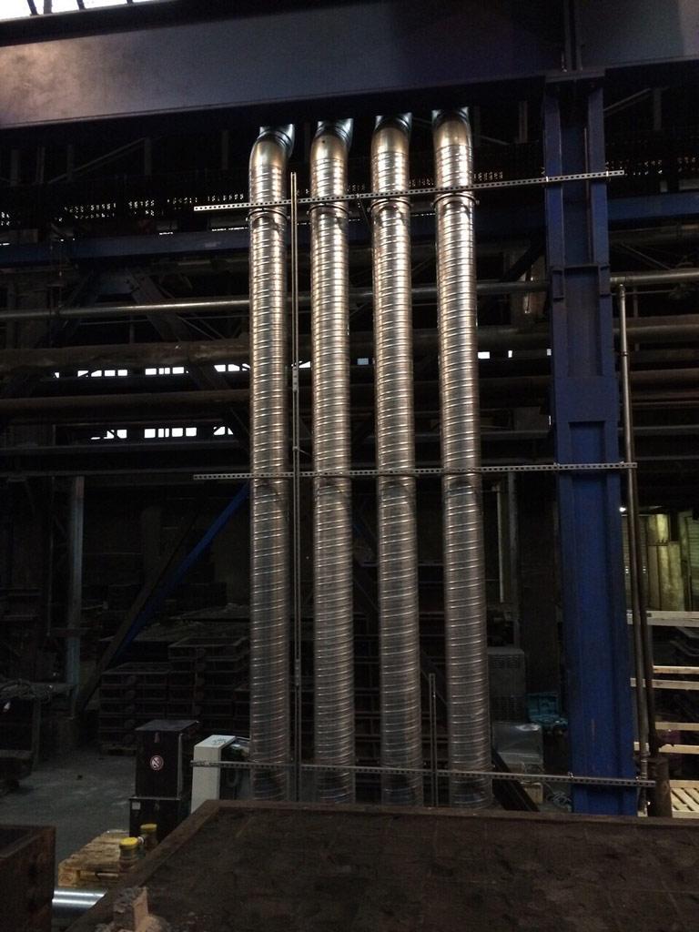 Luftverteilung innerhalb eines Gießereibetriebes